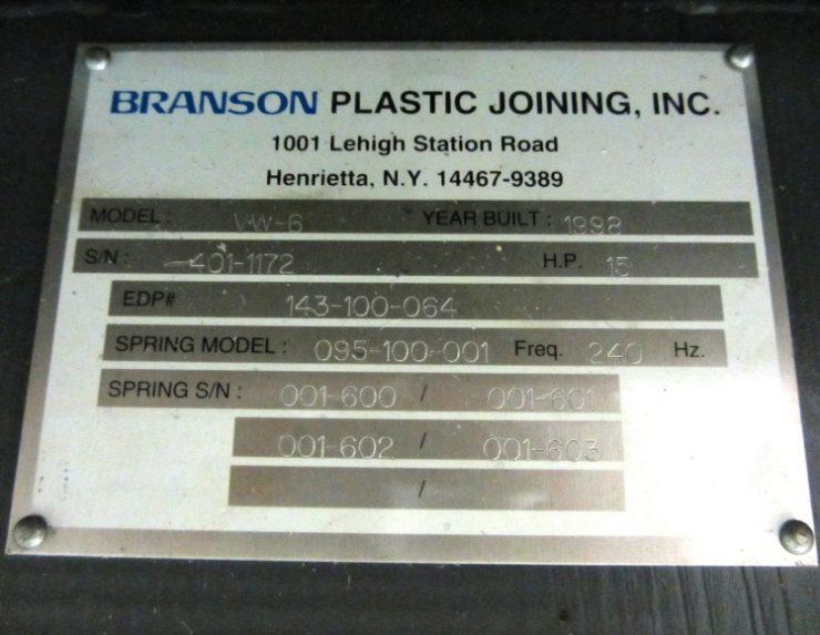 Welding Platen Table ... VW90-6 vibration welder, s/n - 415983 (sold) » Plastic Welding