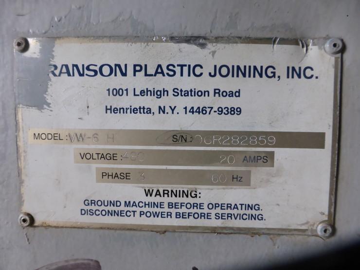 Welding Platen Table Branson VW-6H vibration welder, s/n - 96R282859 » Plastic Welding